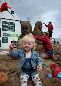Florence wardley jamie wardley claire jamieson sand sculpture somme crail