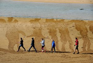 Battle of The Somme Remembrance in Beach Sand Drawing