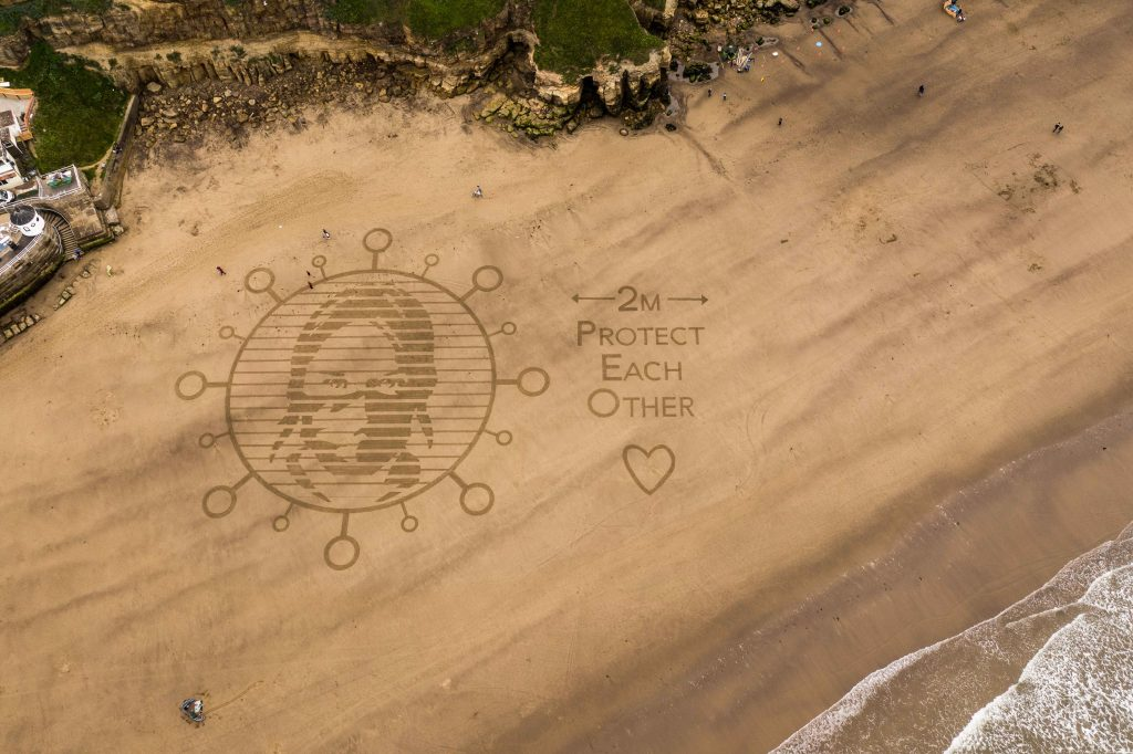 sand drawing whitby