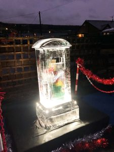 christmas ice post box uk