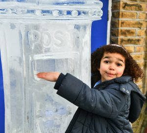Christmas ice sculpture yorkshire